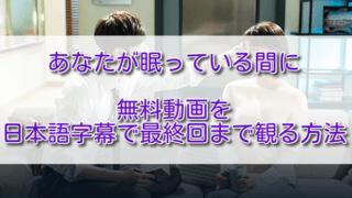 あなたが眠っている間に無料動画を日本語字幕で最終回まで観る方法