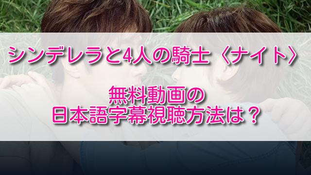 シンデレラと4人の騎士無料動画の日本語字幕視聴方法は?