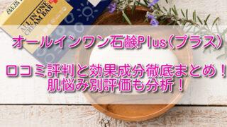 オールインワン石鹸Plus(プラス)口コミ評判と効果成分徹底まとめ!肌悩み別評価も分析!